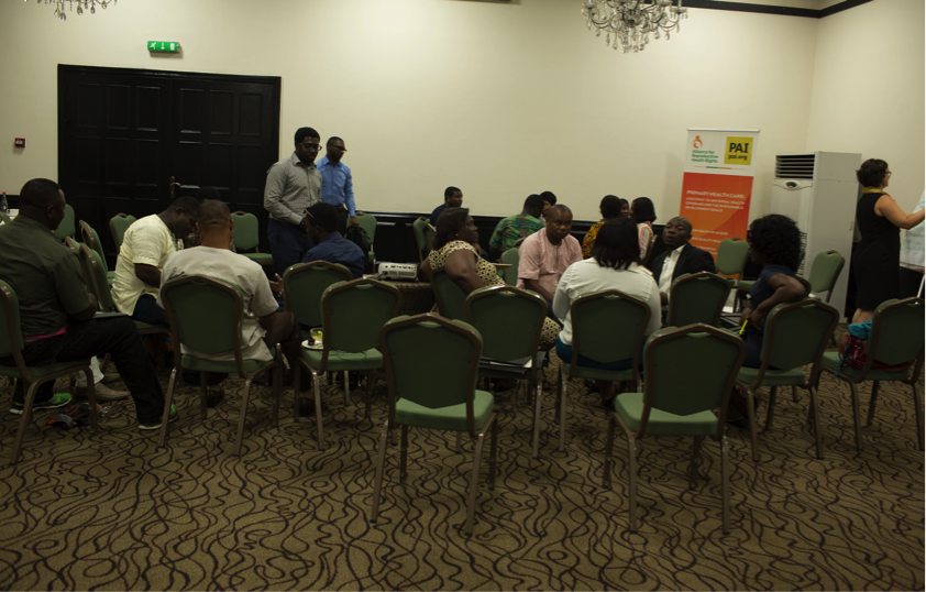 CSOs work in groups to discuss implication of research findings