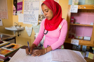 Ethiopian health worker